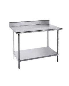 "Advance Tabco KSS-245 60""W x 24""D Commercial Work Table w/ Backsplash"