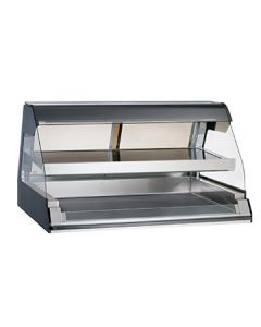 """Alto-Shaam ED2-48/2S-BLK 48"""" Black Two-Tiered Heated Display Case"""