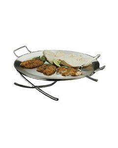 American Metalcraft GSST17 Round Stainless Steel Griddle and Stand