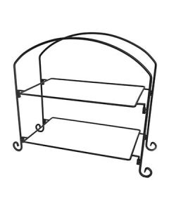 American Metalcraft IS12 2-Tier Rectangular Platter Stand