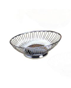 "American Metalcraft OBS69 9"" x 5 7/8"" Stainless Steel Oval Basket"