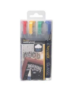 American Metalcraft SMA510V4 Assrtd Color Small Tip Chalk Markers, 4pk