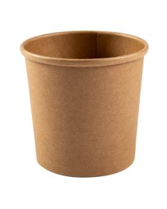 AmerCare Royal PFC12N 12oz Kraft Paper To Go Container