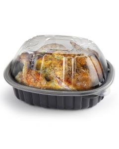 """Anchor Packaging 4110600 Nature's Best Disposable Roaster Container w/Lid - 9.44"""" x 7.51"""" x 4.5"""""""