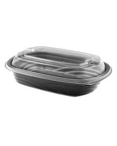 """Anchor Packaging 4112403 MicroRaves Container w/Lid -8.9""""x6.4""""X2.5"""""""