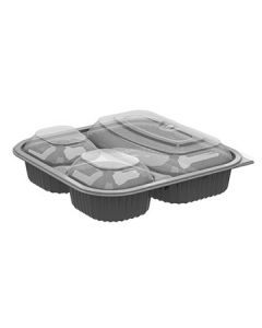 Anchor Packaging 4118523 Culinary Squares 3Comp Square Container w/Lid