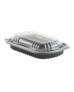 Anchor Packaging 4401900 MicroRaves Ribs Container w/Lid - 1/2 Rack
