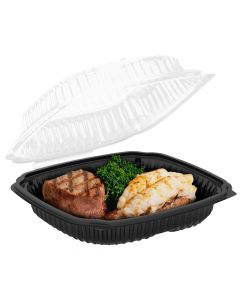 """Anchor Packaging 4699610 Culinary Lites 1-Comp. Hinged Lid Takeout Container - 10.5"""" x 9.5"""""""