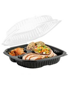 """Anchor Packaging 4699631 Culinary Lites 3-Comp. Hinged-Lid Takeout Container - 10.5"""" x 9.5"""""""