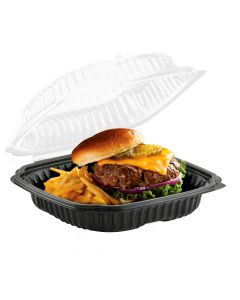 """Anchor Packaging 4699911 Culinary Lites 1-Comp. Hinged-Lid Takeout Container - 9"""" x 9"""""""