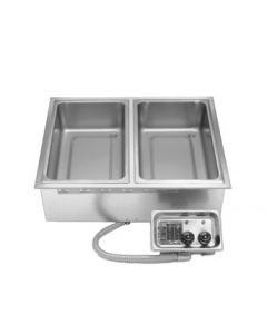 APW Wyott Insulated Multiple Hot Food Well, electric, 2 wells, drain