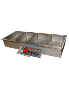 APW Wyott Insulated Multiple Hot Food Well, electric, 4 wells, drain