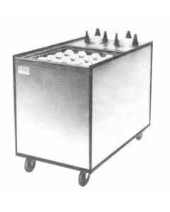 """APW Wyott Enclosed Mobile Combo Lowerator Dispenser, Up to 5"""" Saucers"""