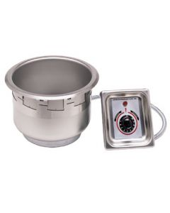 APW Wyott Round Soup Well, electric, 11 qt, UL listed, drain