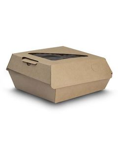 """Bagcraft NAT-F505RAVTWF EcoCraft 5.5"""" EcoFlute Insulated Takeout Container"""