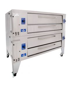 Bakers Pride Y-602 Super Deck Gas Double Deck Pizza Oven