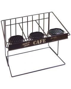 Bloomfield 3023-SRVRK3B 3 Airpot Serving Rack, rear