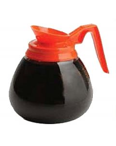 Bloomfield DCF10221O24 Decaf Glass Decanter, orange handle, 24 pack