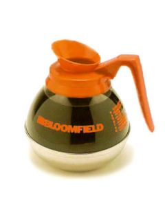 Bloomfield DCF8889O24 Decaf Unbreakable Decanter, orange handle, 24 pack