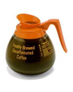 Bloomfield DCF8901O24 Decaf Glass Decanter, orange handle, 24 pack