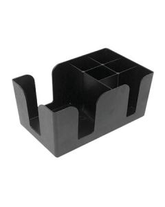 Boelter BAR-01 Black Plastic Bar Caddy