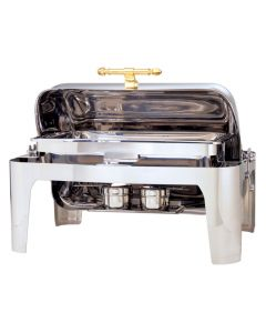 CDD-3 9-3/4 Qt Deluxe II Roll Top Chafing Dish - Full Size