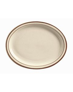 "Boelter MGD-13 Brown Specked Narrow Rim 11-1/2"" Platter"