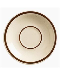 "Boelter MGD-2 Brown Specked Narrow Rim 5-1/2"" Saucer"