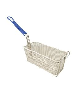 "Boelter WFB-BL 13.25"" x 5.75"" x 5.75"" Twin Fry Basket - Blue Handle"