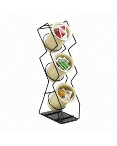 Cal-Mil Space-Saver 3 Hole Black Wire Silverware Display