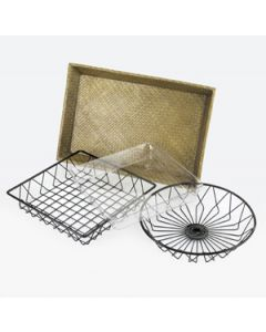 "Cal-Mil 12"" x 18"" Wire Basket"