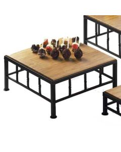 Cal-Mil 12x12x5 Wire Frame Riser w/ Bamboo Top
