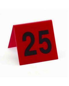 Cal-Mil 226 Set of # 1 to # 25 Red Number Tent w/Black Numbers