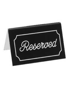 "Cal-Mil 273-2 ""Reserved"" Black/White Engraved Message Tent"