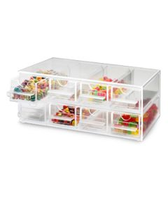 Cal-Mil Clear Topping Dispenser With 8 Notched Drawers