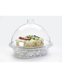 Cal-Mil 10x6 Clear Acrylic Dome Type Gourmet Cover