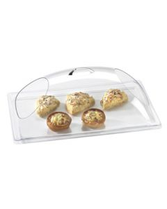 Cal-Mil 12x20x7 1/2 Dome Chafer/Display Cover w/ Both Ends Cut Out