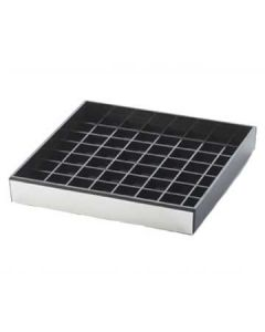 Cal-Mil 6x6 Black with Silver Trim Drip Tray