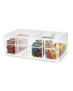 Cal-Mil Clear Topping Dispenser With 4 Notched Drawers