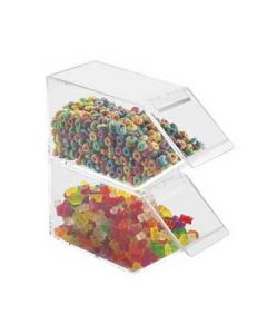 Cal-Mil Clear Stackable Mini Topping Bin