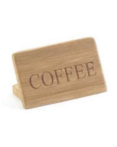 "Cal-Mil ""Coffee"" Bamboo Finish Beverage Sign"