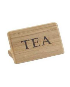 "Cal-Mil ""Tea"" Bamboo Finish Beverage Sign"