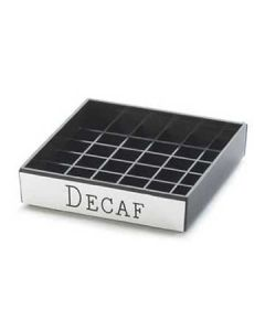 Cal-Mil Decaf 4x4 Square Engraved Drip Tray