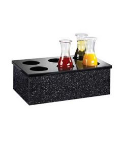 Cal-Mil 12x20 Black Acrylic Carafe Collar with 6 holes