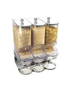 Cal-Mil Elite Clear Portion Control Cereal Unit w/ Metal Base and Lids