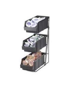 Cal-Mil 3 Tier Black Condiment Caddy