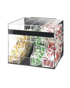 Cal-Mil Clear 4 Section High Volume Condiment Packet Dispenser