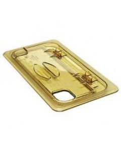 Cambro 30HPLN150 1/3 size Amber High Heat Food Pan Notched Lid