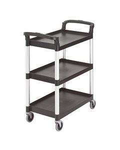 Cambro BC331KD110 3 Shelf 300lb Black Service Cart