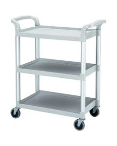 Cambro BC331KD480 Speckled Gray Three Shelf Utility Cart